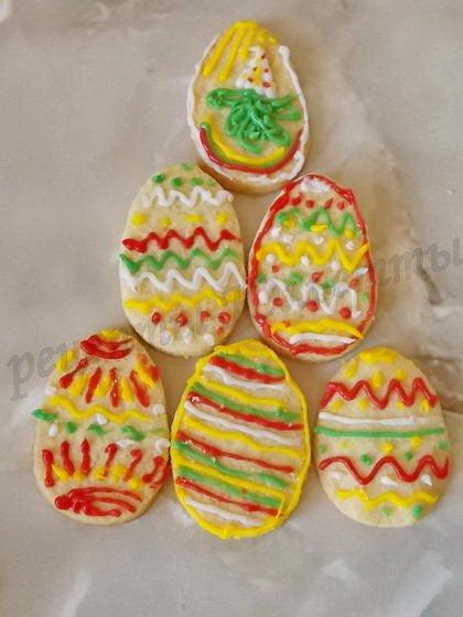 печенье пасхальные яйца рецепт