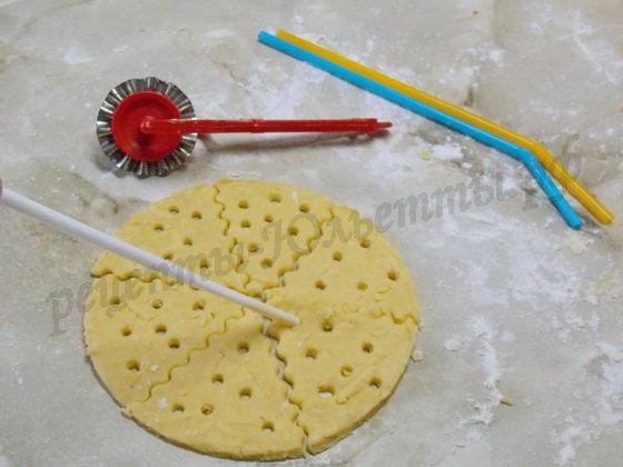 как сделать печенье в виде кусочка сыра