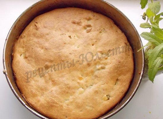 выпекаем пирог до румяности