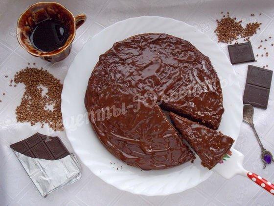 шоколадно-гречневый кекс