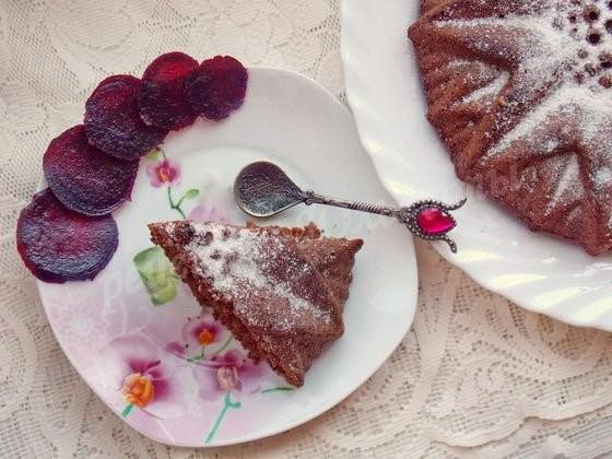 шоколадно-свекольный кекс