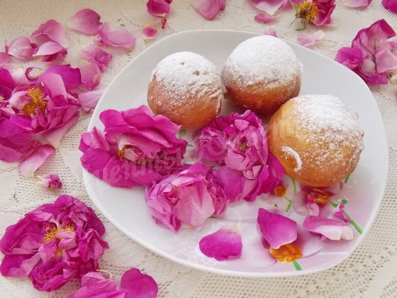 пончики с чайной розой фото