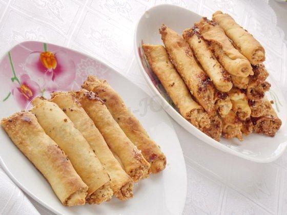 бармак по-татарски с орешками