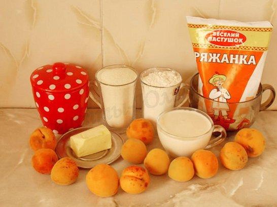 ингредиенты для манника с абрикосами на ряженке