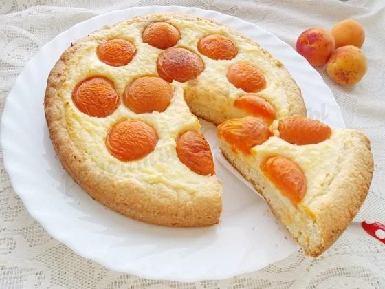 оригинальный творожно-абрикосовый пирог