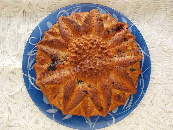 манный кекс со сливами