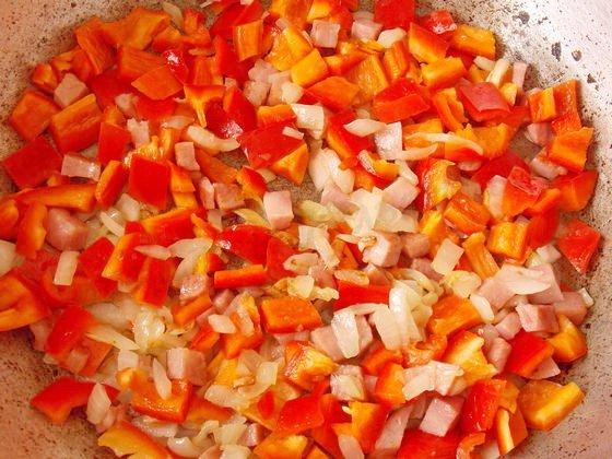 обжариваем сладкий перец
