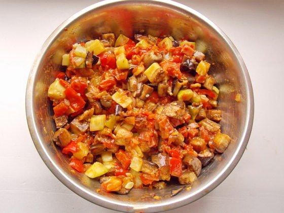 начинка для овощного пирога