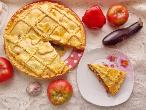 пирог с баклажанами рецепт