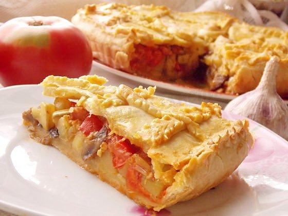 вкусный овощной пирог