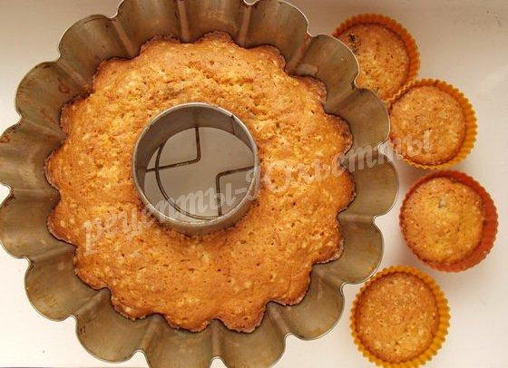 выпекаем кекс со свежей тыквой