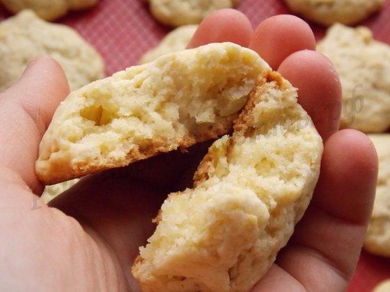 рассыпчатое печенье с яблоками