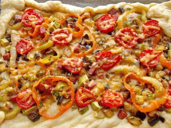 быстрая слоёная  пицца