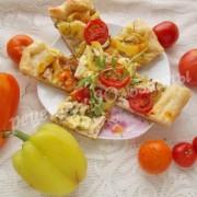 пицца с болгарским перцем и курицей
