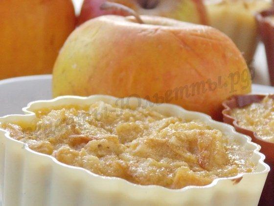 яблочные кексы с манкой