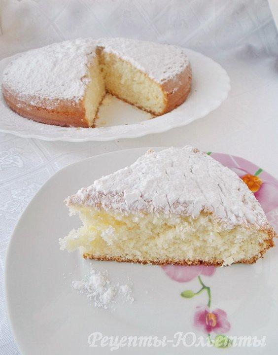 рецепт итальянского бисквита