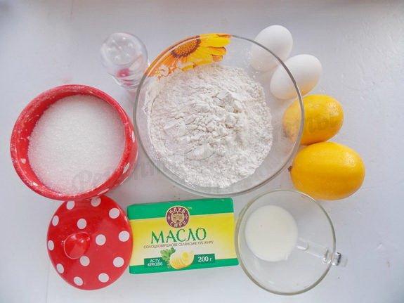 ингредиенты для лимонного тарта