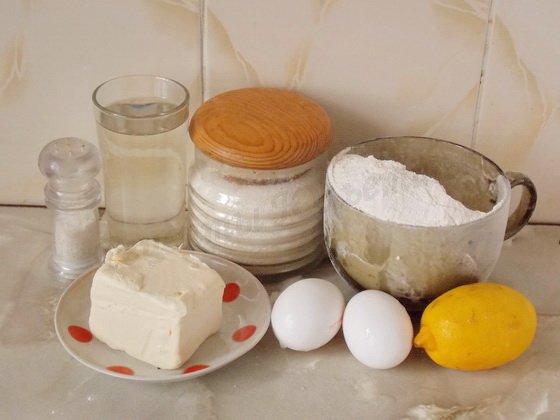 ингредиенты для лимонных вафель