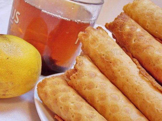 домашние вафли с лимоном