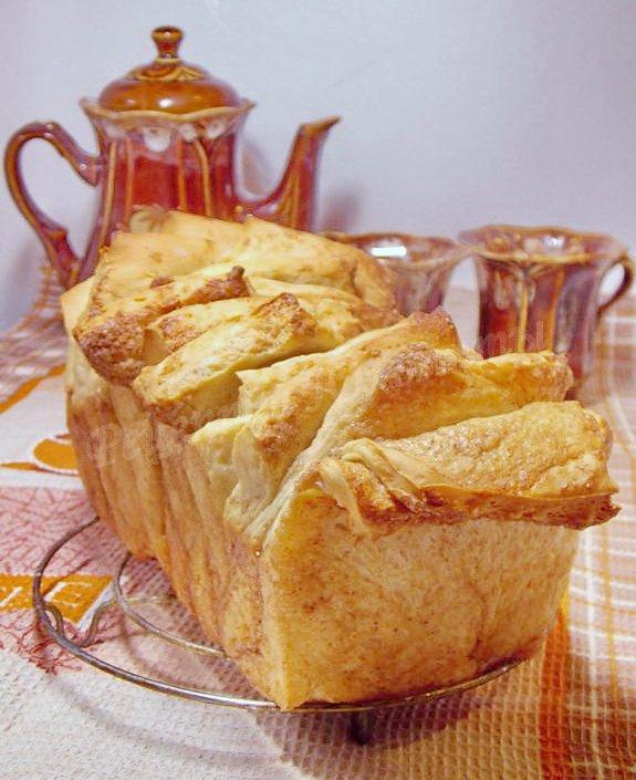 хлеб-гармошка с корицей