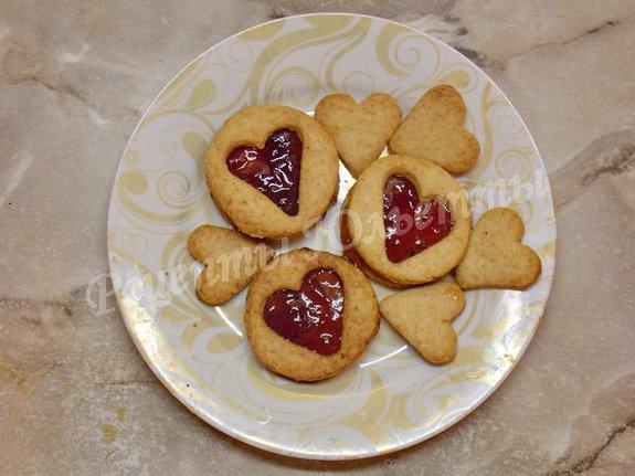 песочное печенье с повидлом