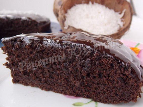 шоколадный пирог на кокосовом молочке