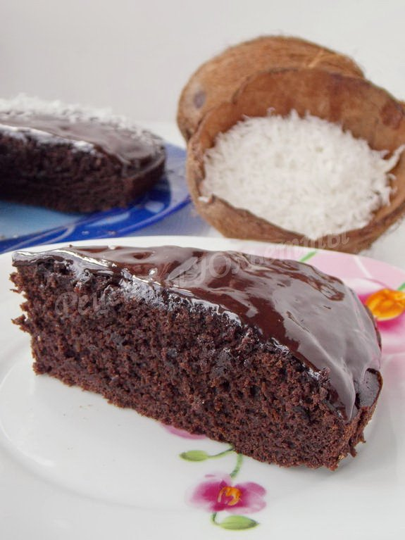 вкусный кокосово-шоколадный пирог