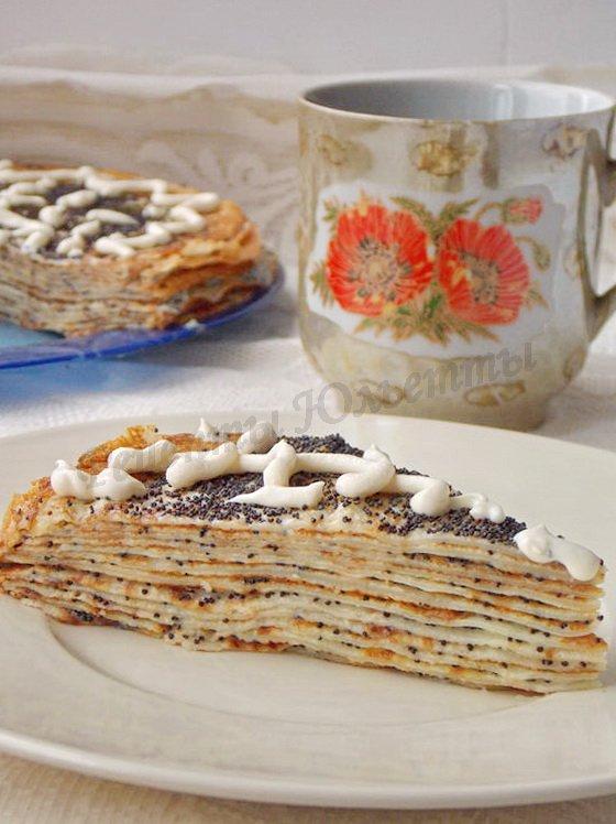 блинный торт Маковка