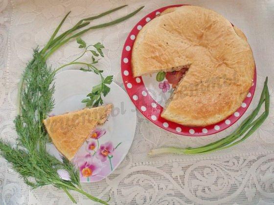 пирог с сёмгой из слоёного теста