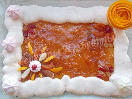 песочный пирог с апельсиновым конфитюром