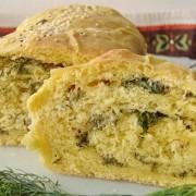 хлеб с укропом и сыром