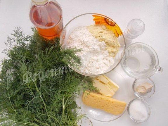 ингредиенты для сырно-укропного хлеба