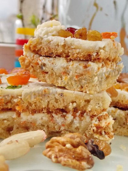 пирог морковно-творожный с орехами