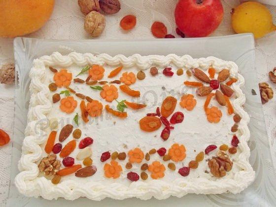 морковно-творожный пирог мазурек