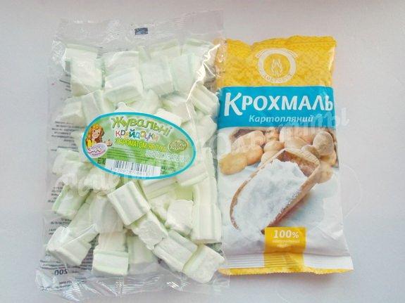 ингредиенты для мастики из жевательного зефира
