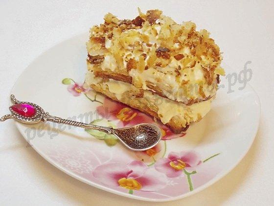 пирожное слойка с масляным кремом