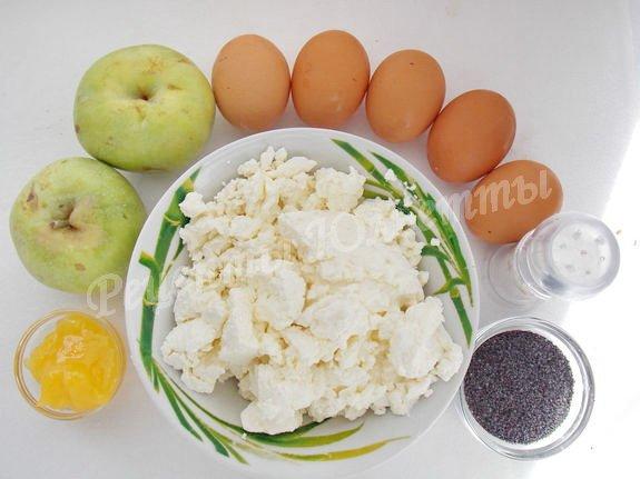 ингредиенты для творожных кексов без муки