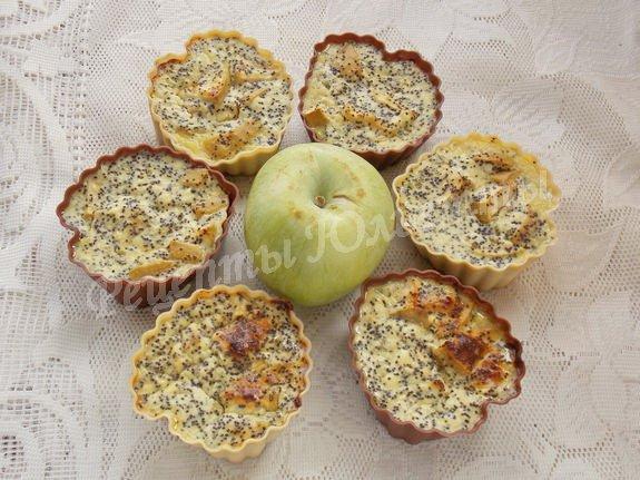 мини-запеканки с творогом и яблоком