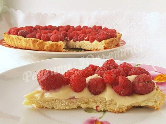 вкусный и красивый малиновый пирог