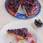 перевёрнутый пирог со смородиной