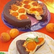 шоколадная ватрушка с абрикосами