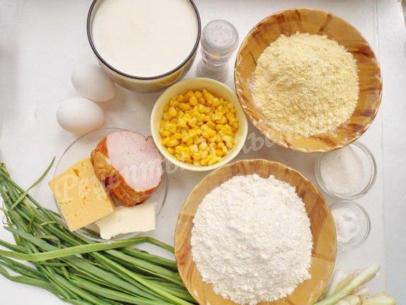 ингредиенты для кукурузных вафель