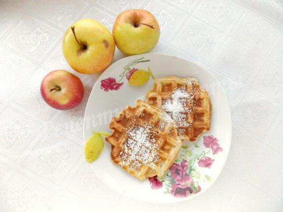 рецепт домашних яблочных вафель