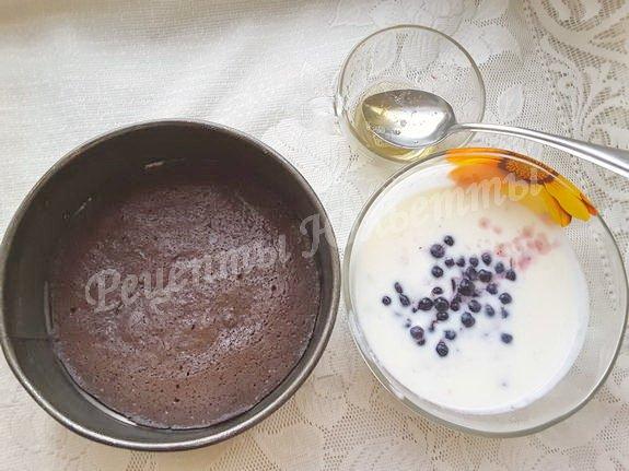 продукты для торта с черникой