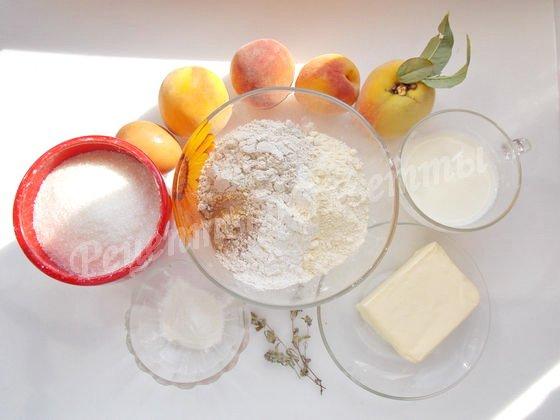 ингредиенты для пирога с персиками