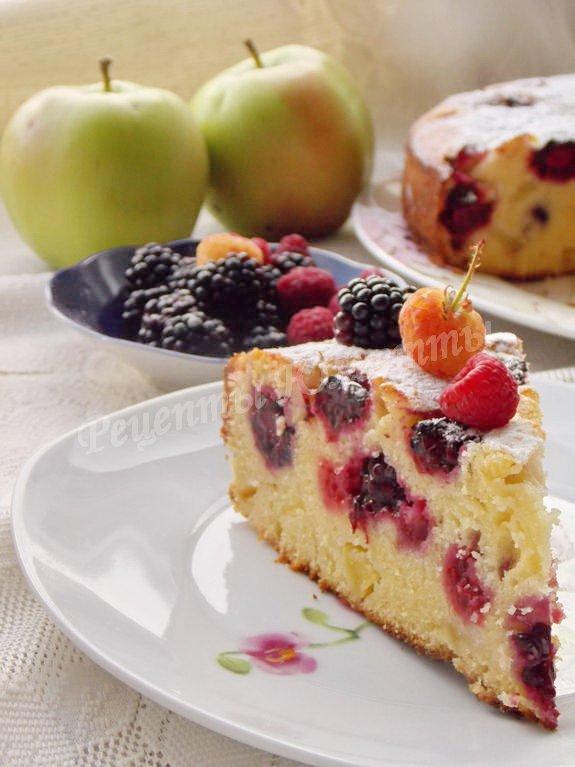 рецепт пирога с ежевикой
