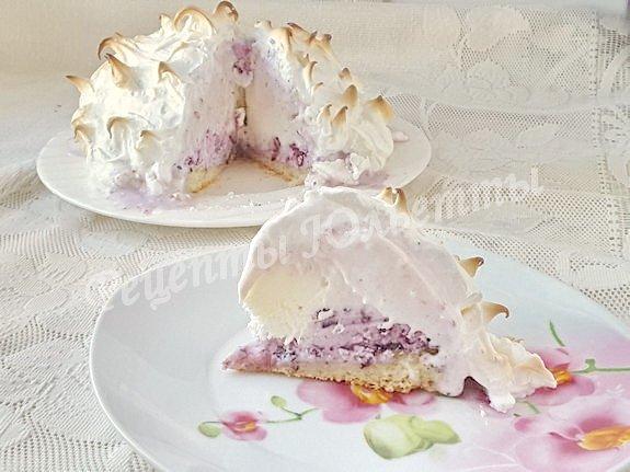 торт с мороженым и безе