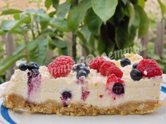 творожный чизкейк с ягодами