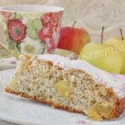 яблочный пирог с маком