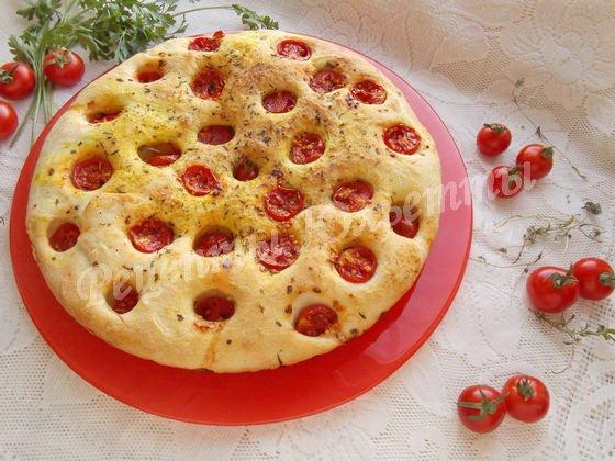 рецепт фокаччи с томатами и травами